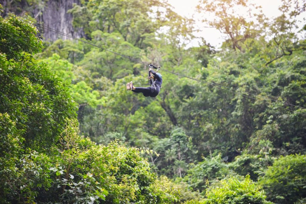 Costa Rica Zip line tropical